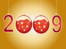 Ano novo 2009 ilustração royalty free
