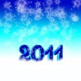Ano novo 2011 ilustração do vetor