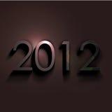 Ano novo 2012 ilustração do vetor