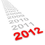 Ano novo 2012. Imagens de Stock Royalty Free