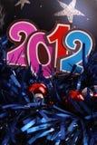 Ano novo 2012 e um bauble Fotos de Stock