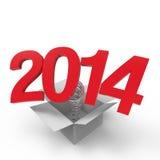 Ano novo 2014 Ilustração do Vetor