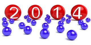 Ano novo 2014 imagem de stock