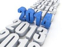 Ano novo 2014 Imagens de Stock