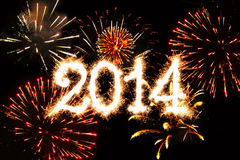 Ano novo 2014. Foto de Stock