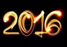Ano novo 2016 Fotos de Stock Royalty Free