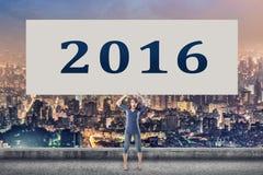 2016, ano novo Fotografia de Stock