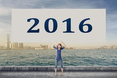 2016, ano novo Fotografia de Stock Royalty Free