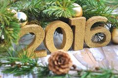 Ano novo 2016 Imagens de Stock Royalty Free