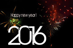 Ano novo, 2016 Foto de Stock Royalty Free