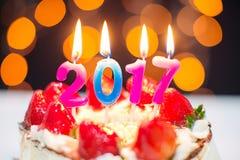 Ano novo 2017 Fotografia de Stock Royalty Free