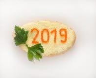 Ano novo 2019 Imagens de Stock Royalty Free