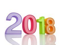 Ano novo 2018 Imagens de Stock Royalty Free