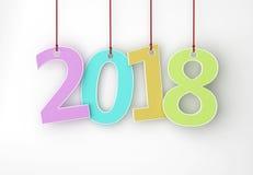 Ano novo 2018 ilustração stock