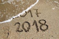 Ano novo 2018 fotografia de stock
