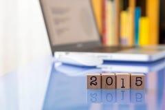 Ano novo 2015, ajustando objetivos para o sucesso comercial Imagens de Stock Royalty Free