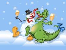 Ano novo alegre Fotos de Stock