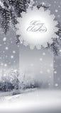 Ano novo, cartão de Natal Fotografia de Stock Royalty Free