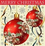Ano novo. Cartão de Natal do cumprimento. Foto de Stock Royalty Free