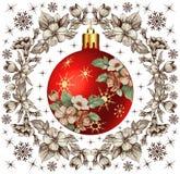 Ano novo. Cartão de Natal do cumprimento. Imagens de Stock