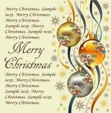 Ano novo. Cartão de Natal do cumprimento. Fotos de Stock