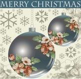 Ano novo. Cartão de Natal do cumprimento. Imagens de Stock Royalty Free