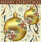 Ano novo. Cartão de Natal do cumprimento. Foto de Stock