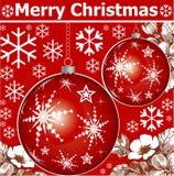 Ano novo. Cartão de Natal do cumprimento. Fotos de Stock Royalty Free