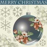 Ano novo. Cartão de Natal do cumprimento. Imagem de Stock Royalty Free
