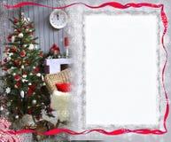Ano novo, cartão de Natal para cumprimentos Foto de Stock Royalty Free