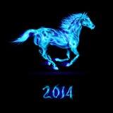 Ano novo 2014: cavalo do fogo. Imagem de Stock