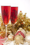 Ano novo. Champagne imagem de stock royalty free