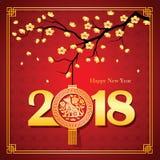 Ano novo chinês 2018 Imagens de Stock