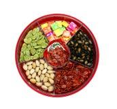 Ano novo chinês - caixa chinesa dos doces Fotografia de Stock