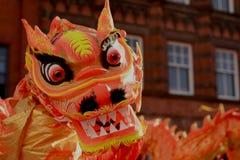 Ano novo chinês de Liverpool - Dragon Dance Imagem de Stock Royalty Free