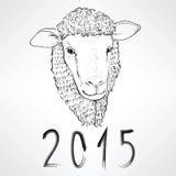 Ano novo chinês dos carneiros Fotos de Stock