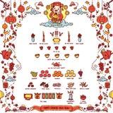 Ano novo chinês feliz Deus da riqueza Fotos de Stock