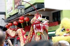 Ano novo chinês no bairro chinês de Manila fotografia de stock royalty free