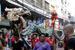 Ano novo chinês no bairro chinês de Manila fotos de stock