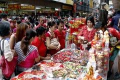 Ano novo chinês no bairro chinês de Manila fotos de stock royalty free
