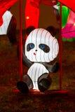 Ano novo chinês Panda Bear de festival de lanterna Fotografia de Stock Royalty Free