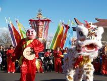 Ano novo chinês Performace Fotos de Stock Royalty Free