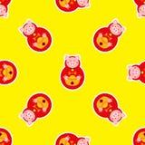 Ano novo chinês sem emenda Comemore o ano de porco ilustração do vetor