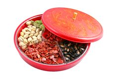 Ano novo chinês - caixa chinesa dos doces Imagens de Stock Royalty Free