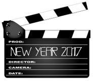 Ano novo Clapperboard 2017 ilustração stock