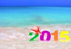 Ano novo colorido 2015 Imagens de Stock Royalty Free