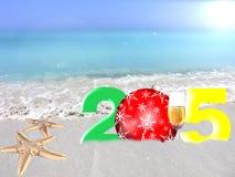 Ano novo colorido 2015 Fotografia de Stock Royalty Free