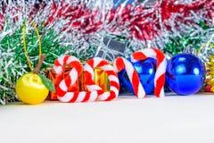 Ano novo 2017 com decorações do Natal Imagens de Stock Royalty Free