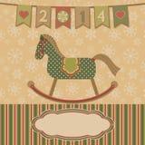 Ano novo 2014 com o cavalo. Fotografia de Stock Royalty Free