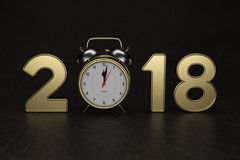 Ano novo 2018 com pulso de disparo Fotografia de Stock